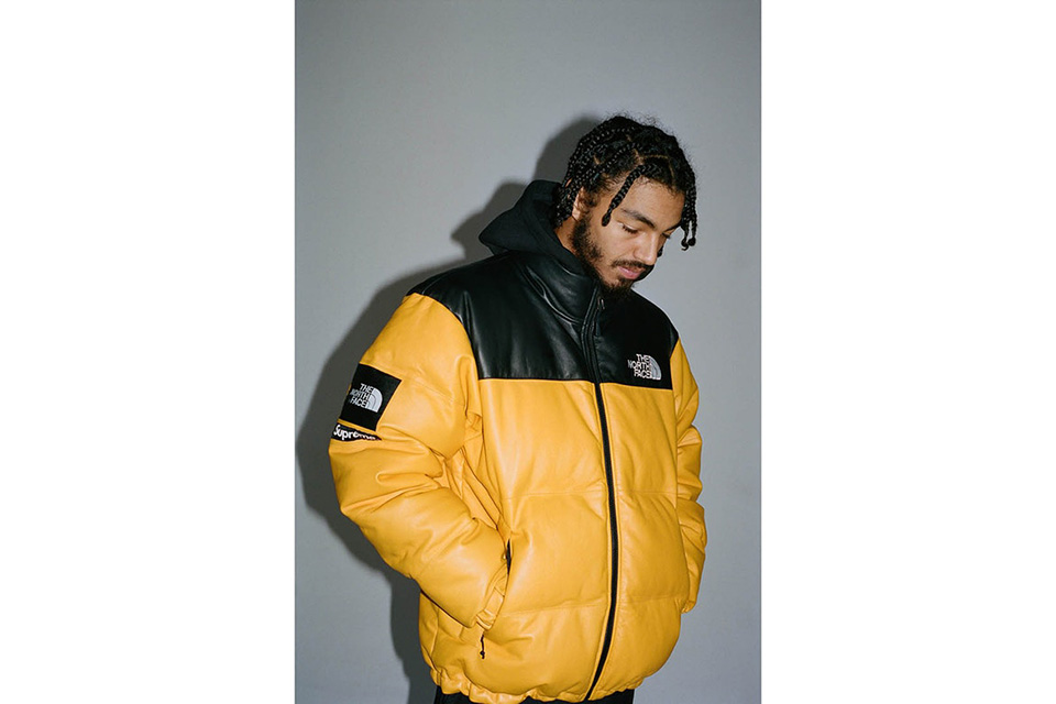Veste supreme x north face jaune