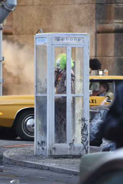 'Joker' on set filming, New York, USA - 24 Sep 2018